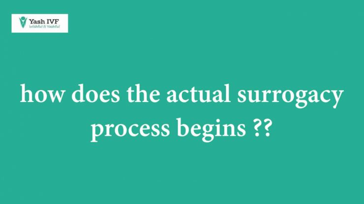 How does the actual surrogacy process begin?